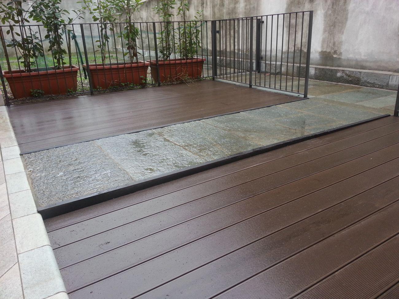 Pavimenti per verande esterne piastra in legno per da for Pavimenti per scale esterne